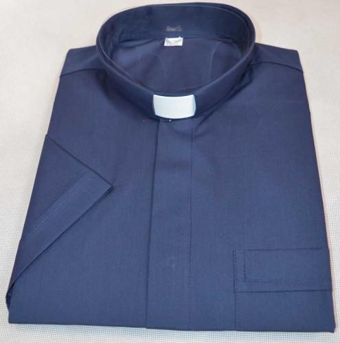 9886fa86d Koszula kapłańska z bawełny   Czarna, biała, granatowa   Klerus